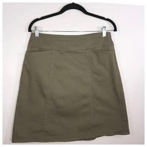 Chaus Dark Olive Green Straight Midi Skirt Size 6